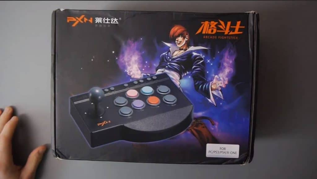 Arcade Fight Stick, USB Wired Fighting Joystick Game Controller for PS4 PS3 Switch PC Fighting Games